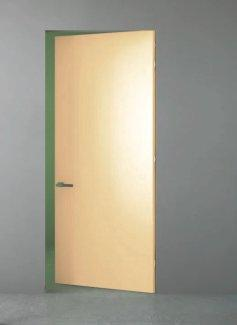 Межкомнатные двери Двери скрытого монтажа Invisible со стеклом лакобель беж