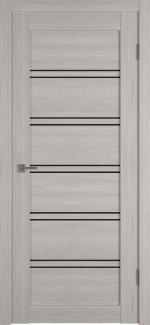Межкомнатные двери Двери Atum Pro 28 Hygge Stone Oak стекло черное