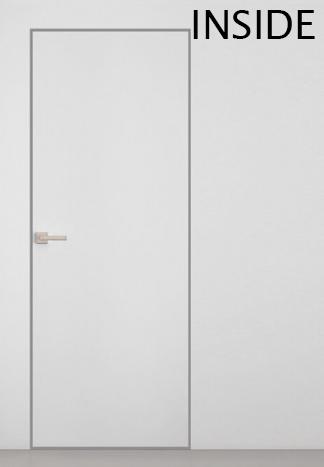 Межкомнатные двери Двері прихованого монтажу INSIDE Папа Карло грунтовані з алюмінієвими торцями