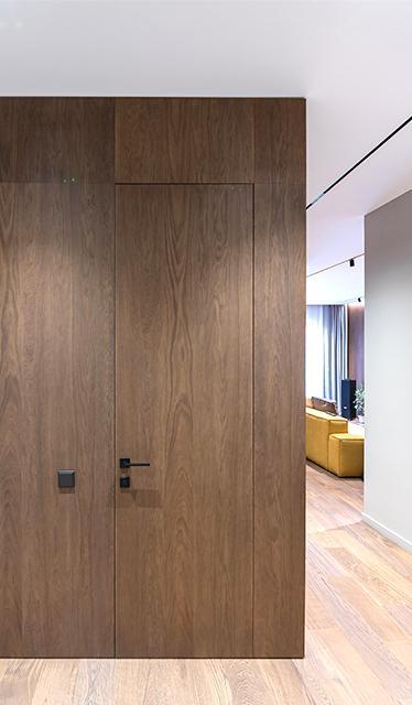 Межкомнатные двери Двери скрытого монтажа Invisible шпон / под покраску