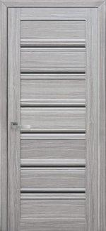 Межкомнатные двери Венеция Новый Стиль жемчуг серебряный стекло С1 черное