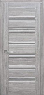 Межкомнатные двери Венеция Новый Стиль жемчуг серебряный стекло С1 графит