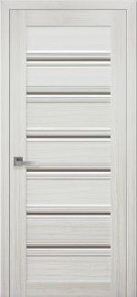 Межкомнатные двери Венеция Новый Стиль жемчуг белый стекло С1 бронза