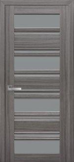 Межкомнатные двери Венеция Новый Стиль жемчуг графит стекло С2 графит
