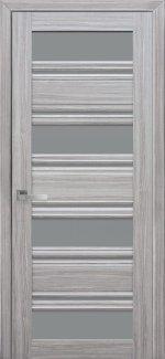 Межкомнатные двери Венеция Новый Стиль жемчуг серебряный стекло С2 графит
