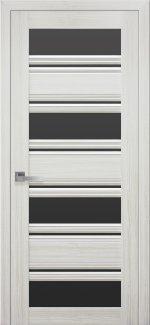 Межкомнатные двери Венеция Новый Стиль жемчуг белый стекло С2 черное