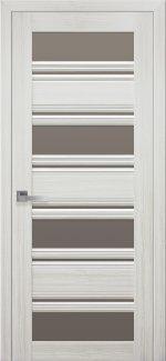 Межкомнатные двери Венеция Новый Стиль жемчуг белый стекло С2 бронза