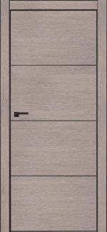 Межкомнатные двери Двері Italwood Metalbox Омега Дуб 10.69 + AL Black глухе