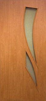 Двери Камея Новый Стиль ольха 3D со стеклом Сатин
