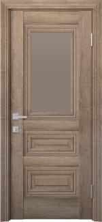 Межкомнатные двери Камилла Новый Стиль орех европейский стекло бронза