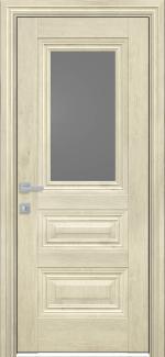 Межкомнатные двери Камилла Новый Стиль орех гималайский стекло графит
