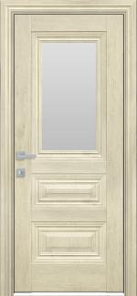Межкомнатные двери Камилла Новый Стиль орех гималайский стекло Сатин