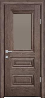 Межкомнатные двери Камилла Новый Стиль орех норвежский стекло бронза