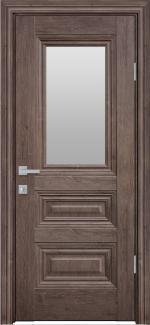Межкомнатные двери Камилла Новый Стиль орех норвежский стекло Сатин