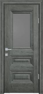 Межкомнатные двери Камилла Новый Стиль орех сибирский стекло графит