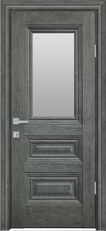 Межкомнатные двери Камилла Новый Стиль орех сибирский стекло Сатин