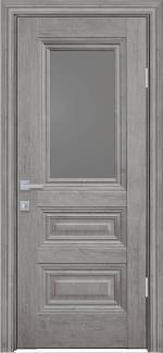 Межкомнатные двери Камилла Новый Стиль орех скандинавский стекло графит