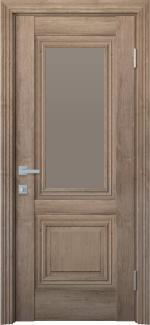 Межкомнатные двери Канна Новый Стиль орех европейский стекло бронза