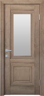 Межкомнатные двери Канна Новый Стиль орех европейский стекло Сатин