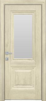 Межкомнатные двери Канна Новый Стиль орех гималайский стекло Сатин