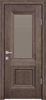 Межкомнатные двери Канна Новый Стиль орех норвежский стекло бронза