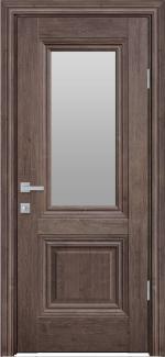 Межкомнатные двери Канна Новый Стиль орех норвежский стекло Сатин