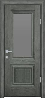 Межкомнатные двери Канна Новый Стиль орех сибирский стекло графит