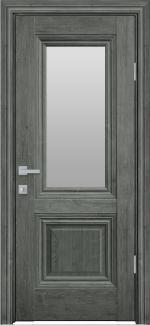 Межкомнатные двери Канна Новый Стиль орех сибирский стекло Сатин