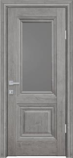 Межкомнатные двери Канна Новый Стиль орех скандинавский стекло графит