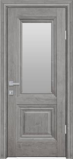 Межкомнатные двери Канна Новый Стиль орех скандинавский стекло Сатин