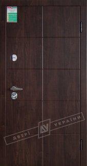 Входные двери Кейс Віноріт України горіх темний 12 мм(полотно),16 мм(наличники)