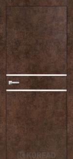 Межкомнатные двери Двери Aluminium Loft Plato ALP-03 Корфад арт бетон глухое