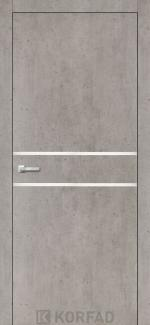 Межкомнатные двери Двери Aluminium Loft Plato ALP-03 Корфад лайт бетон глухое