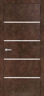 Межкомнатные двери Двери Aluminium Loft Plato ALP-05 Корфад арт бетон глухое