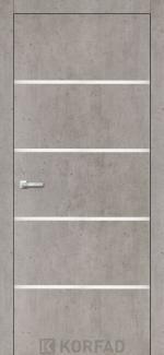 Межкомнатные двери Двери Aluminium Loft Plato ALP-05 Корфад лайт бетон глухое
