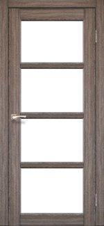 Двери Корфад Aprica AP-02 дуб грей стекло Сатин