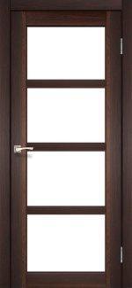 Двери Корфад Aprica AP-02 орех стекло Сатин