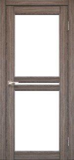 Двері Korfad Milano ML-05 дуб грей скло Сатін