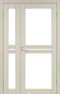 Двери Milano ML-06 Корфад Беленый Дуб со стеклом