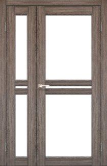 Двері Korfad Milano ML-06 дуб грей скло Сатін