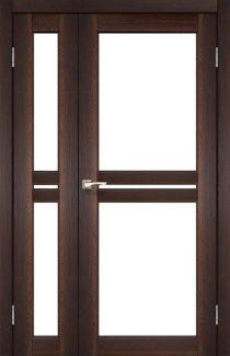 Двері Korfad Milano ML-06 горіх скло Сатін
