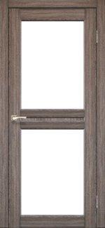 Двери Корфад Milano ML-07 дуб грей стекло Сатин