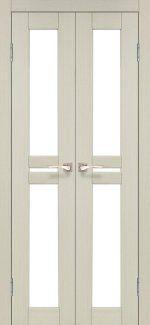 Двери Milano ML-08 Корфад Беленый Дуб со стеклом