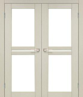 Двери Milano ML-09 Корфад Беленый Дуб со стеклом