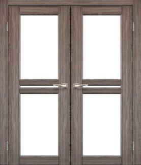 Двері Korfad Milano ML-09 дуб грей скло Сатін
