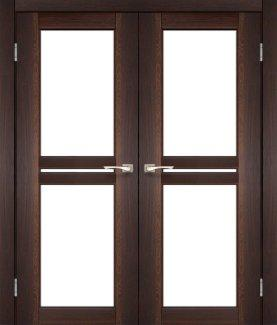 Двері Korfad Milano ML-09 горіх скло Сатін