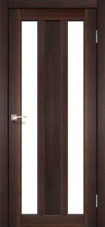 Двері Korfad Napoli NP-01 горіх скло Сатін