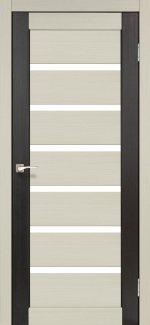 Двери Корфад Porto Combi Colore PC-01 беленый дуб стекло Сатин