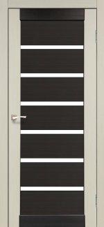 Двери Корфад Porto Combi Colore PC-02 беленый дуб стекло Сатин