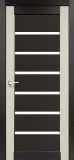 Двери Корфад Porto Combi Colore PC-02 венге стекло Сатин